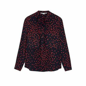 Stella McCartney Navy Printed Silk Blouse
