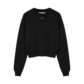 Off-White Black Crystal-embellished Jersey Sweatshirt