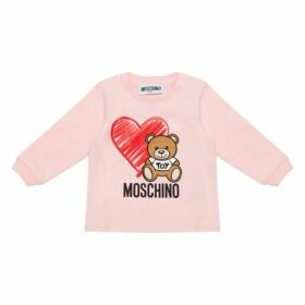 MOSCHINO Pale Pink Logo Top
