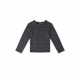 Jigsaw Linen Blend Lurex Stripe Top