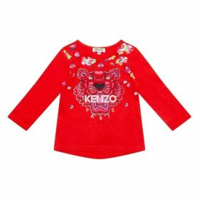 Kenzo Baby Red Tiger Top
