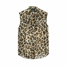 Boutique Moschino Leopard-print Chiffon Blouse
