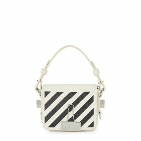 Off-White Diag Baby White Leather Cross-body Bag