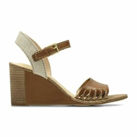 Spiced Poppy Leather Wedge Sandals