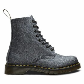 Pascal Glitter Ankle Boots with Lace-Up Fastening