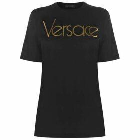 Versace Metallic Logo T Shirt