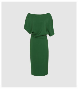 Reiss Madison - Slim Fit Dress in Bright Green, Womens, Size 16