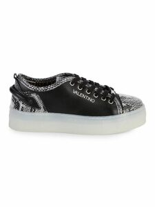 Dalia Sauvage Embossed-Python Leather Sneakers