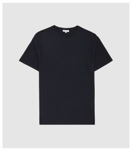 Reiss Walbrook - Textured Crew Neck T-shirt in Navy, Mens, Size XXL