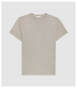 Reiss Heath - Garment Dyed T-shirt in Soft Grey, Mens, Size XXL