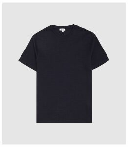 Reiss Fords - Textured Striped T-shirt in Navy, Mens, Size XXL