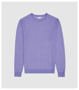 Reiss Wessex - Merino Wool Jumper in Purple, Mens, Size XXL