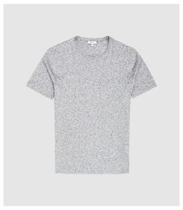 Reiss District - Melange Crew Neck T-shirt in Grey, Mens, Size XXL