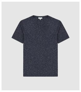 Reiss District - Melange Crew Neck T-shirt in Navy, Mens, Size XXL