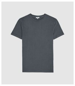 Reiss Heath - Garment Dyed T-shirt in Washed Indigo, Mens, Size XXL