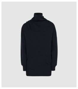 Reiss Kym - Rollneck Jumper in Navy, Womens, Size XXL