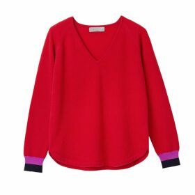 Cove - Polly Red V Neck Cashmere Jumper