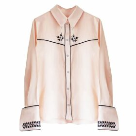 Florence Bridge - Embroidered Cowboy Shirt Pale Peach