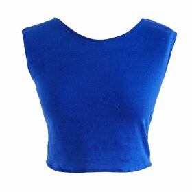 esfera. - Crop Top In Royal Blue