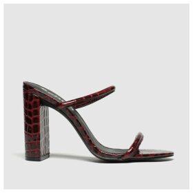 Schuh Burgundy Uptown High Heels