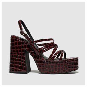 Schuh Burgundy Blase High Heels