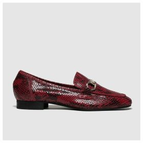 Schuh Burgundy Reflection Flat Shoes