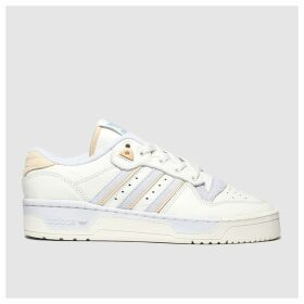 Adidas White & Pl Blue Rivalry Low Trainers