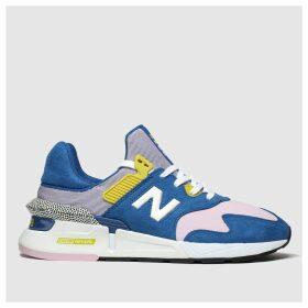 New Balance Blue & Yellow 997 Trainers