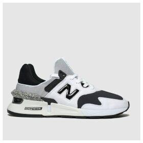 New Balance White & Black 997 Trainers