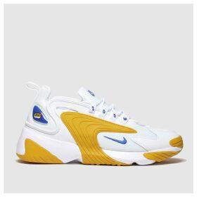 Nike White & Yellow Zoom 2k Trainers