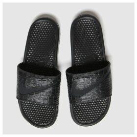 Nike Black Benassi Slide Sandals