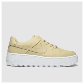 Nike Beige Air Force 1 Sage Low Trainers