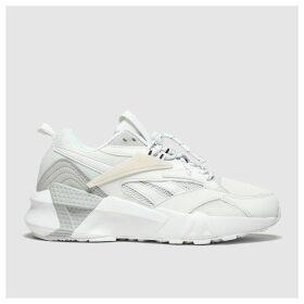 Reebok White & Grey Aztrek Double Trainers