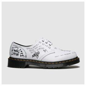 Dr Martens White & Black 1461 Flat Shoes