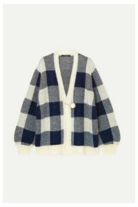 Mother of Pearl - Blake Checked Jacquard-knit Cardigan - Navy