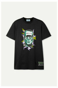 Prada - + Universal Printed Cotton-jersey T-shirt - Black