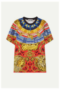 Moschino - Oversized Printed Cotton-jersey T-shirt - Gold