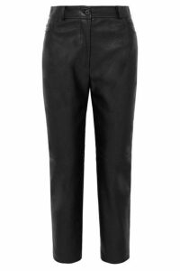 Stella McCartney - Cropped Faux Leather Straight-leg Pants - Black