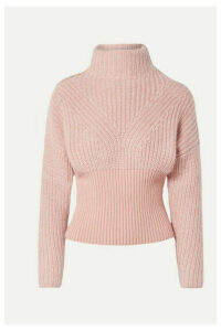 IRO - Medford Ribbed Cotton-blend Turtleneck Sweater - Blush