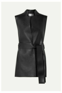 The Row - Frieden Leather Vest - Black