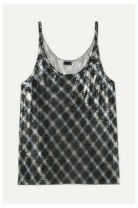 Paco Rabanne - Checked Chainmail Camisole - Silver