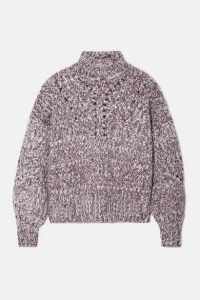 Isabel Marant - Jarren Mélange Alpaca-blend Turtleneck Sweater - Grape