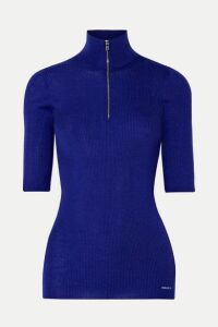 Prada - Ribbed Wool-blend Sweater - Royal blue