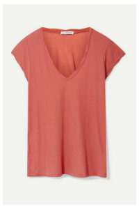 James Perse - Cotton-jersey T-shirt - Coral