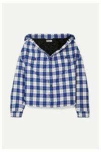 Balenciaga - Oversized Checked Quilted Cotton-flannel Shirt - Blue