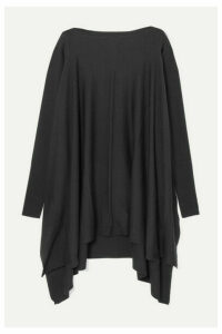 Rick Owens - Convertible Cutout Draped Wool Sweater - Black