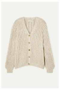 The Row - Seilde Oversized Ribbed Cashmere And Silk-blend Cardigan - Beige