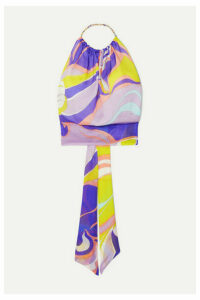 Emilio Pucci - Printed Silk-satin Halterneck Top - Purple