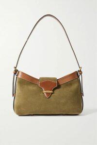 GANNI - Leopard-print Silk-blend Satin Wrap Dress - Leopard print