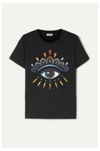 KENZO - Gradient Eye Printed Cotton-jersey T-shirt - Black